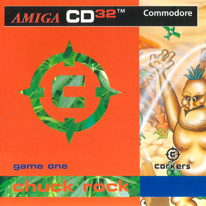 Chuck Rock - Amiga  CD32 Box Scan - Front