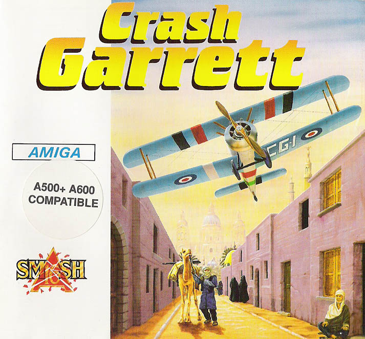 Crash Garrett - Amiga Box Scan - Front