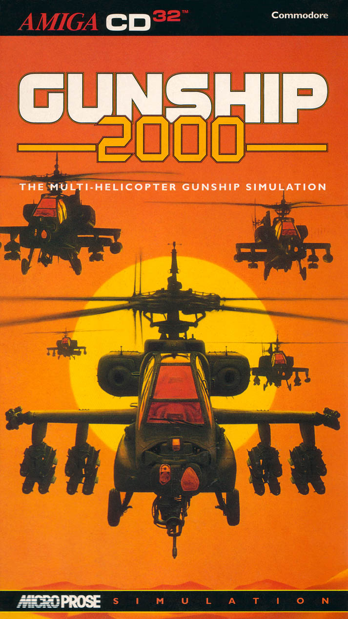 Gunship 2000 - Amiga  CD32 Box Scan - Front