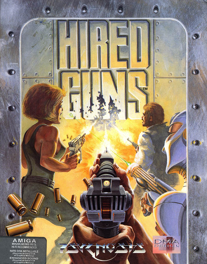 Hired Guns - Amiga Box Scan - Front
