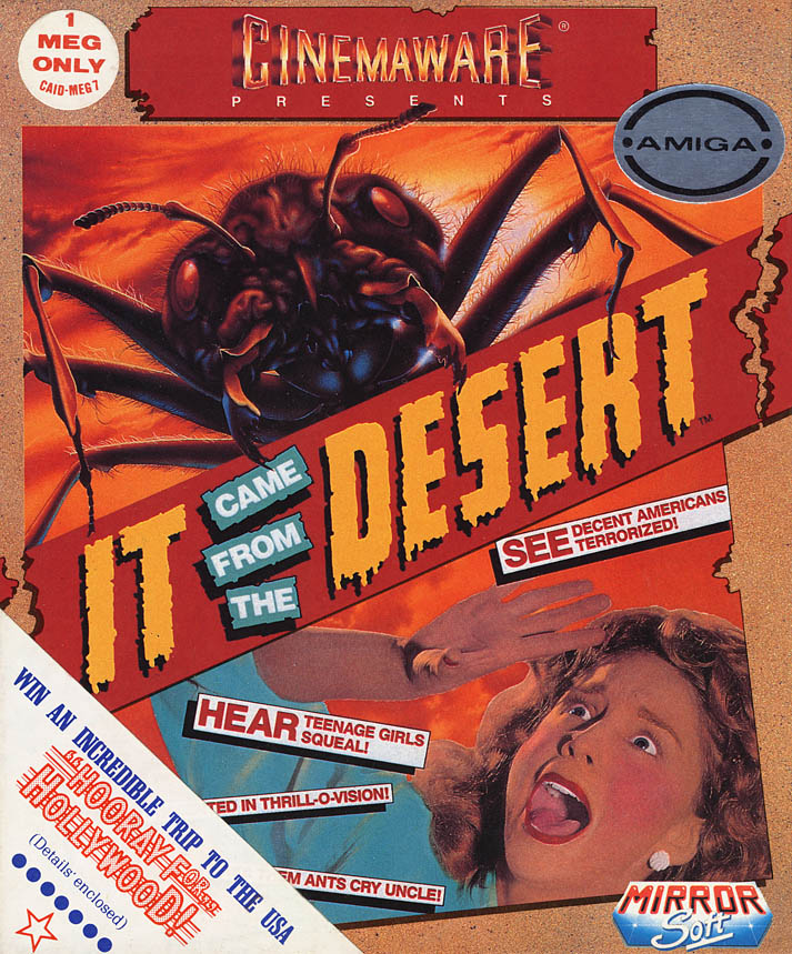 It Came From The Desert Amiga Game Box Scan Front