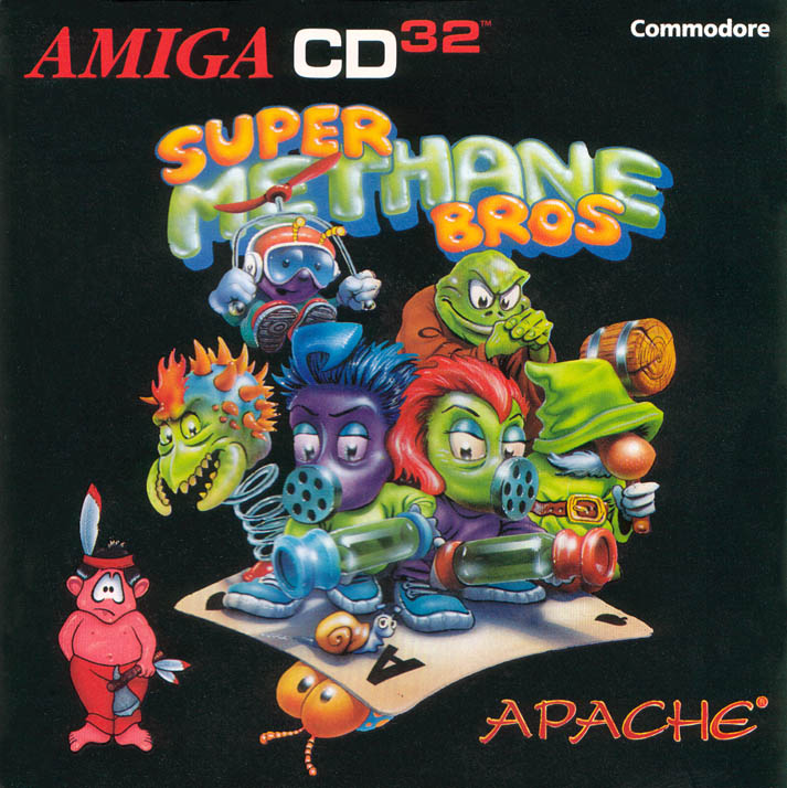 Super Methane Bros - Amiga  CD32 Box Scan - Front
