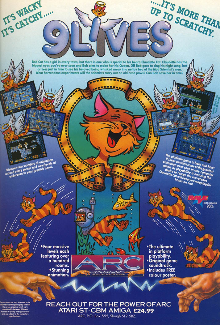 9 Lives - Amiga Advertisement scan