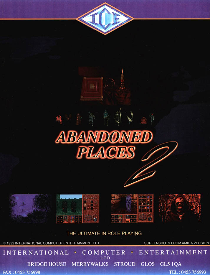 Abandoned Places 2 - Amiga Advertisement scan