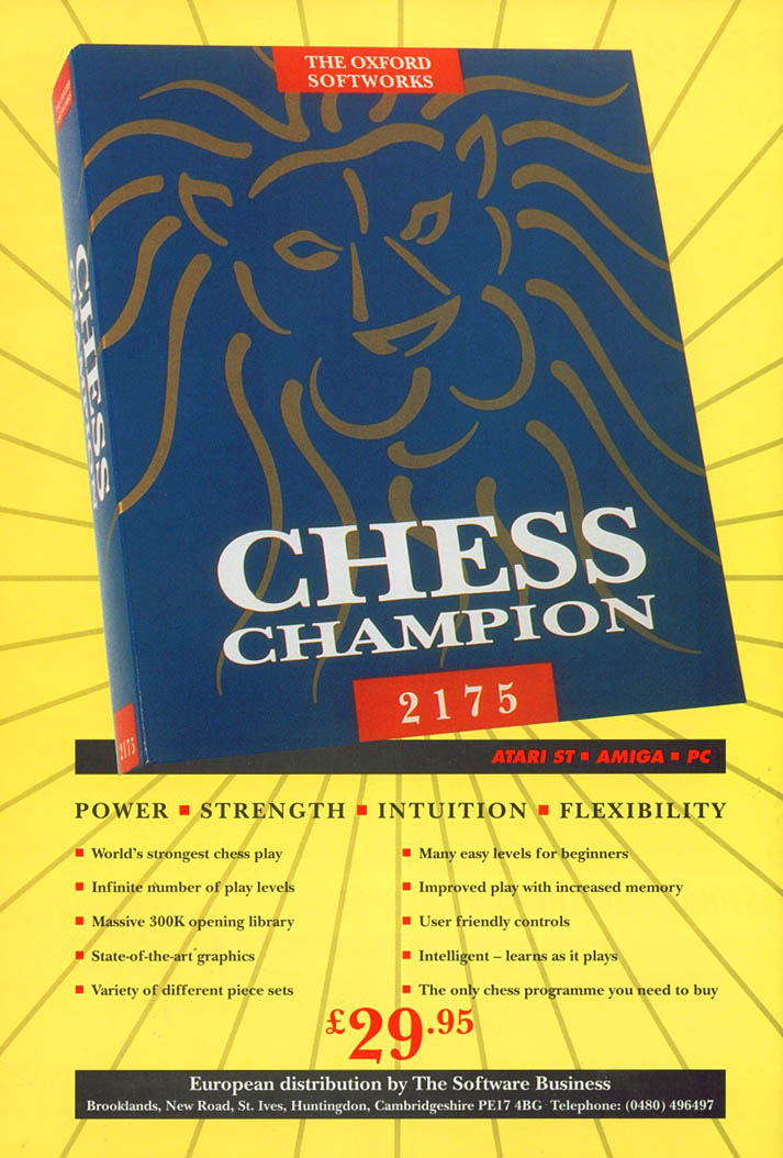 Chess Champion 2175 - Amiga Advertisement scan