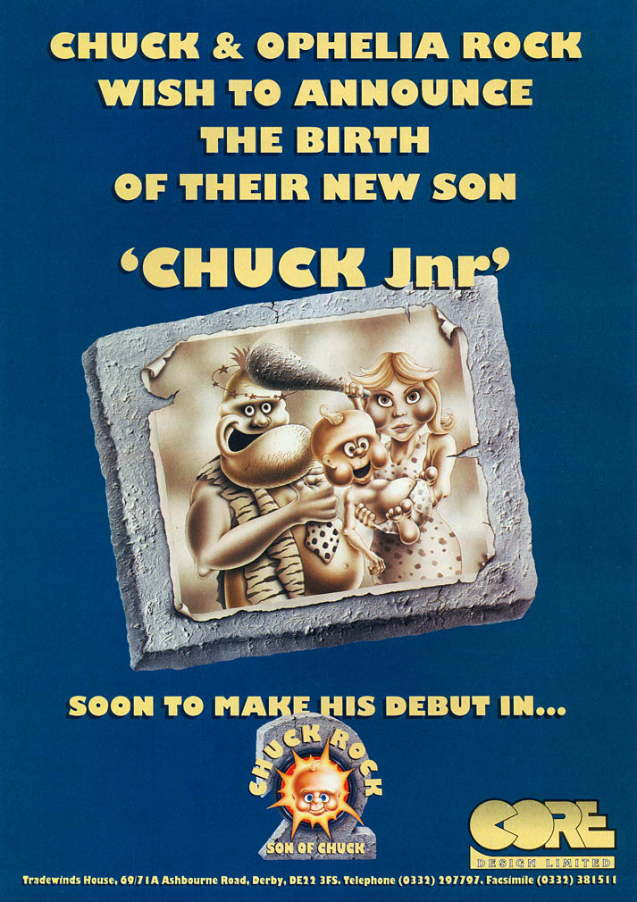 Chuck Rock II: Son of Chuck - Amiga Advertisement scan