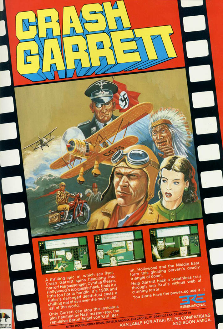 Crash Garrett - Amiga Advertisement scan