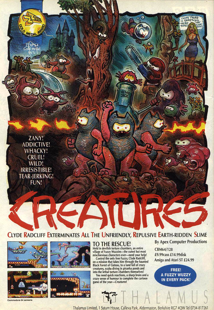 Creatures - Amiga Advertisement scan