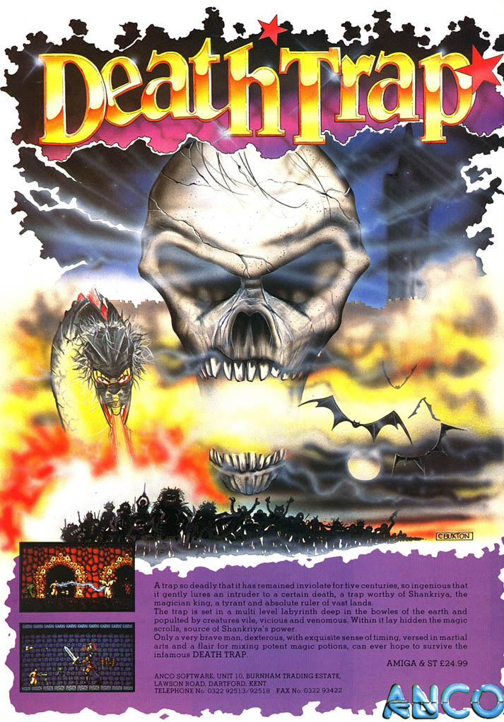 Death Trap - Amiga Advertisement scan