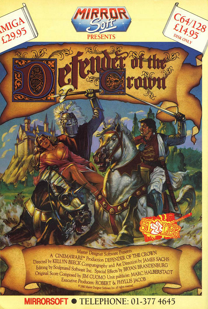 Defender of the Crown - Amiga Advertisement scan