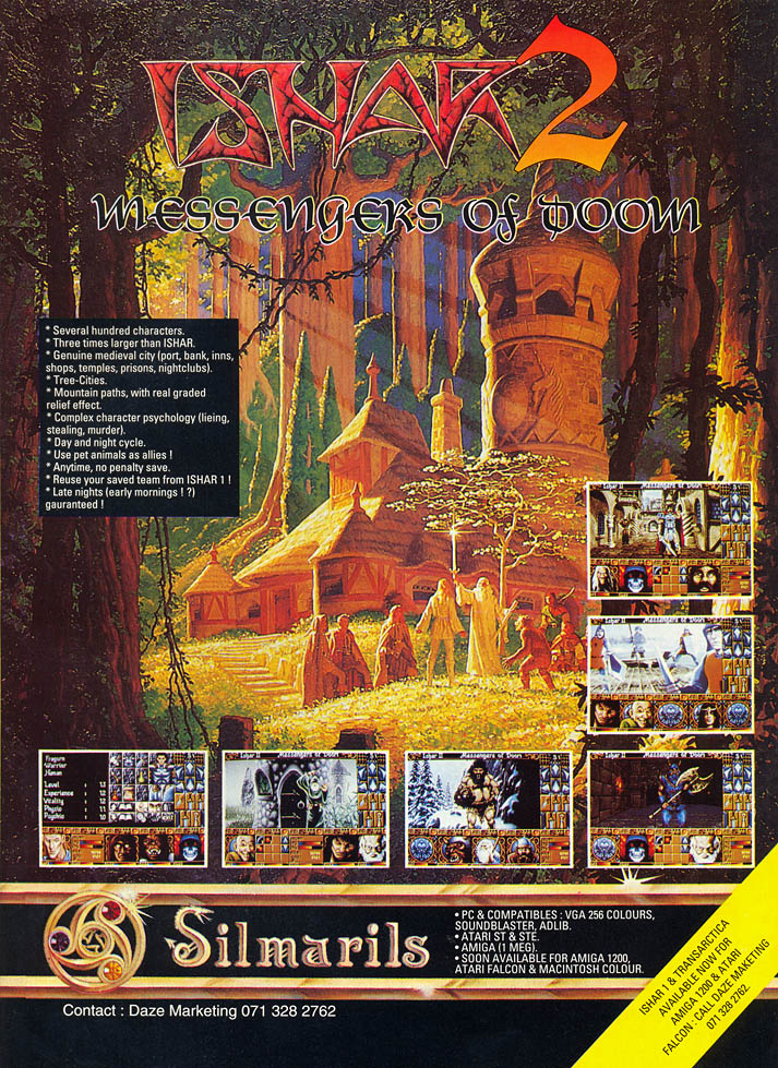 Ishar 2: Messengers of Doom - Amiga Advertisement scan