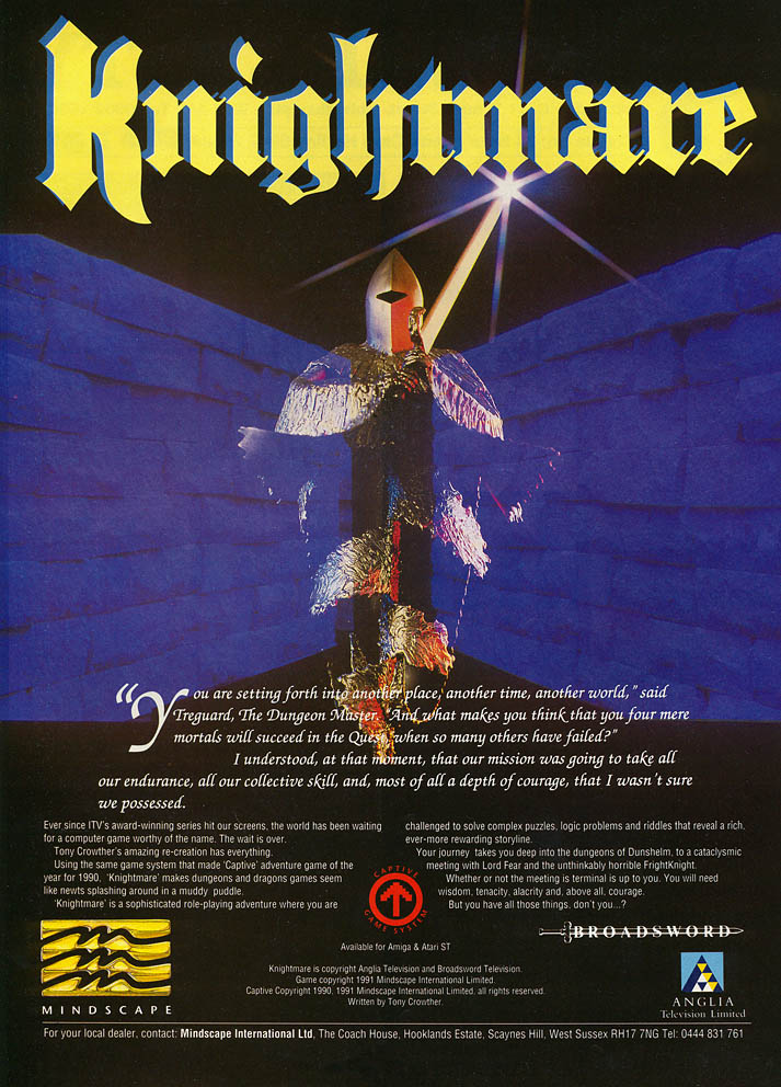Knightmare - Amiga Advertisement scan