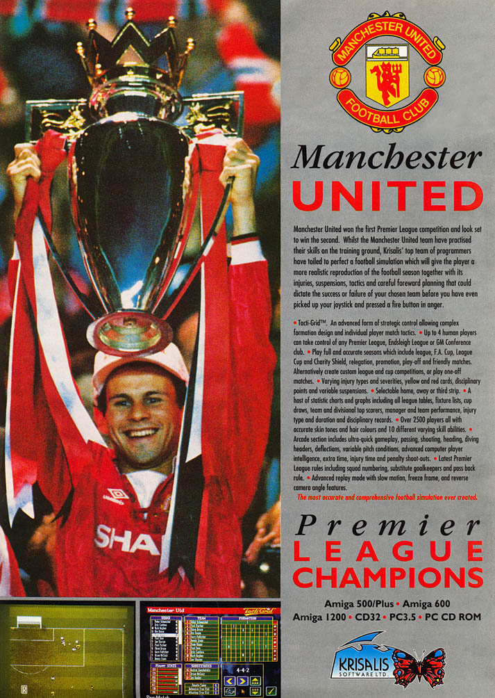 Manchester United: Premier League Champions - Amiga Advertisement scan