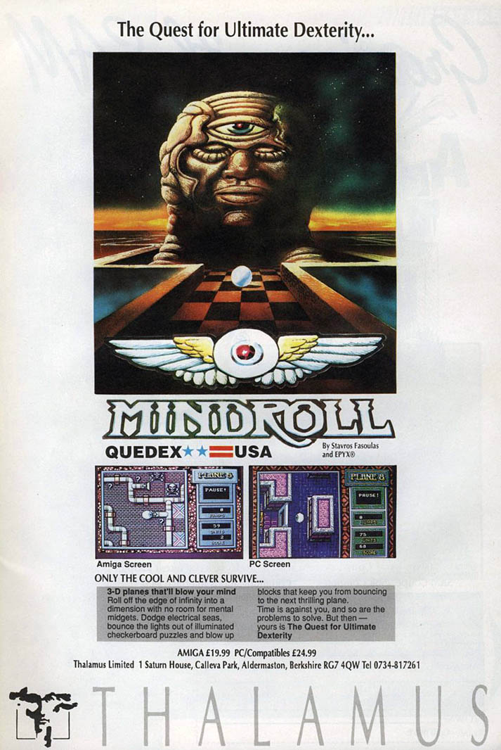 Mindroll - Amiga Advertisement scan