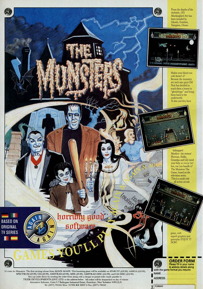 Munsters, The - Amiga Advertisement scan