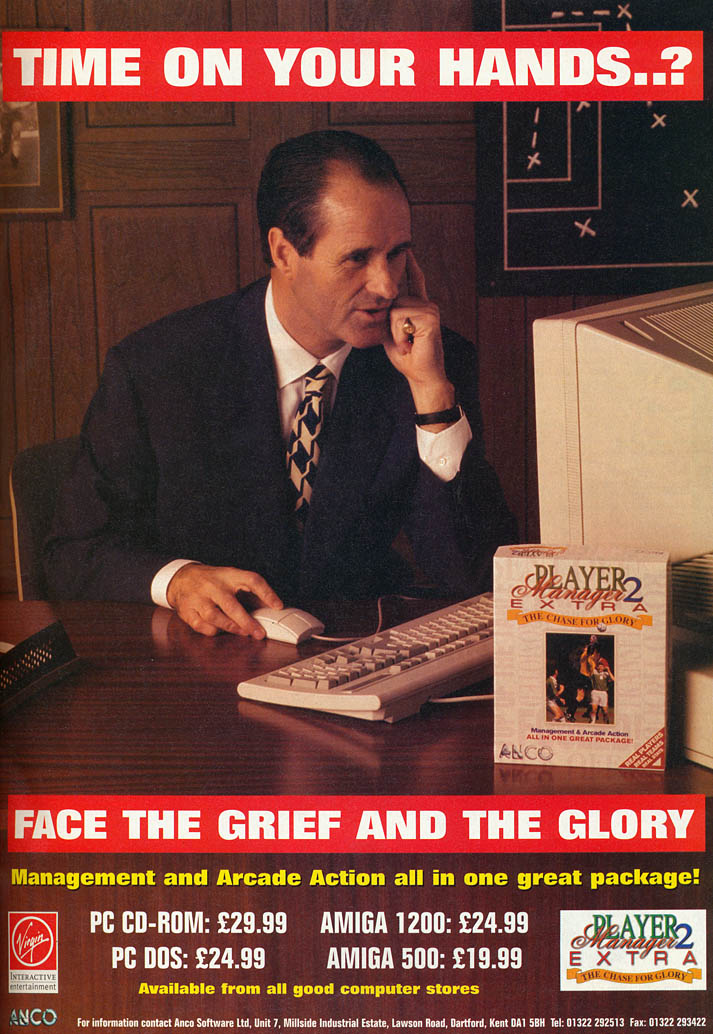 Player Manager 2 Extra: The Chase for Glory - Amiga Advertisement scan