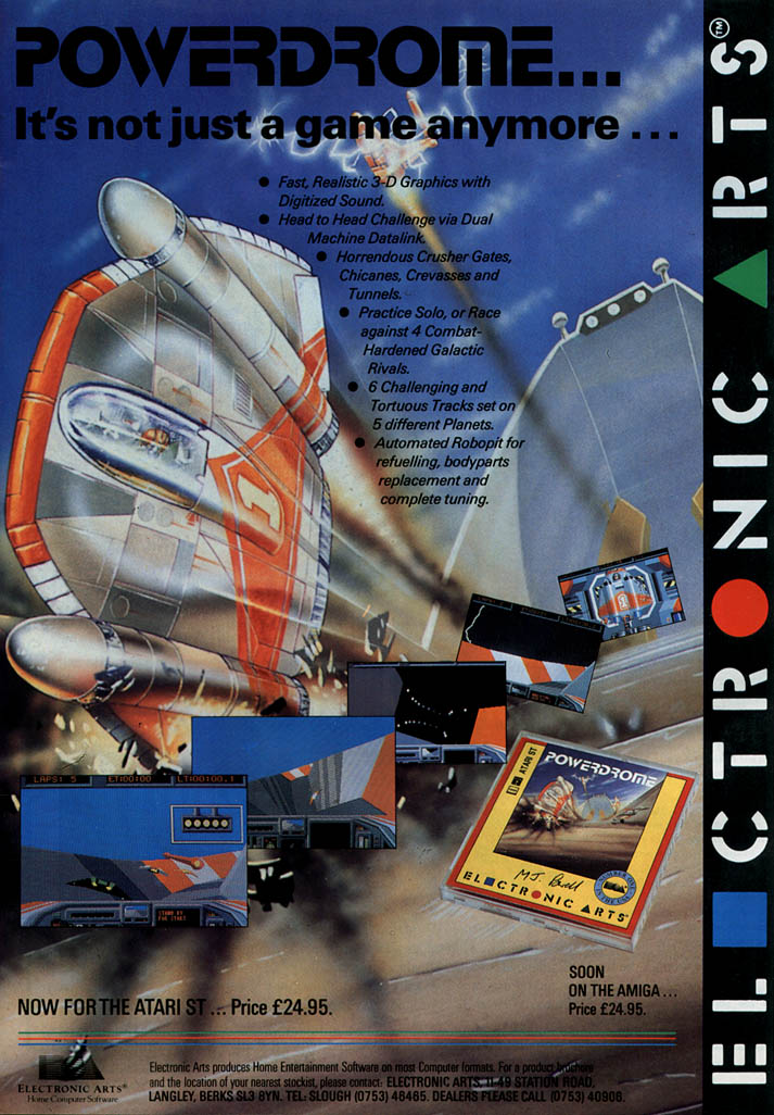 Powerdrome - Amiga Advertisement scan