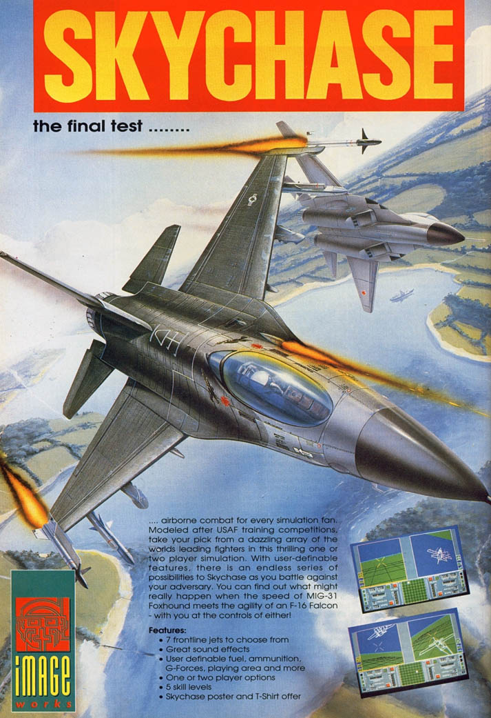 SkyChase - Amiga Advertisement scan