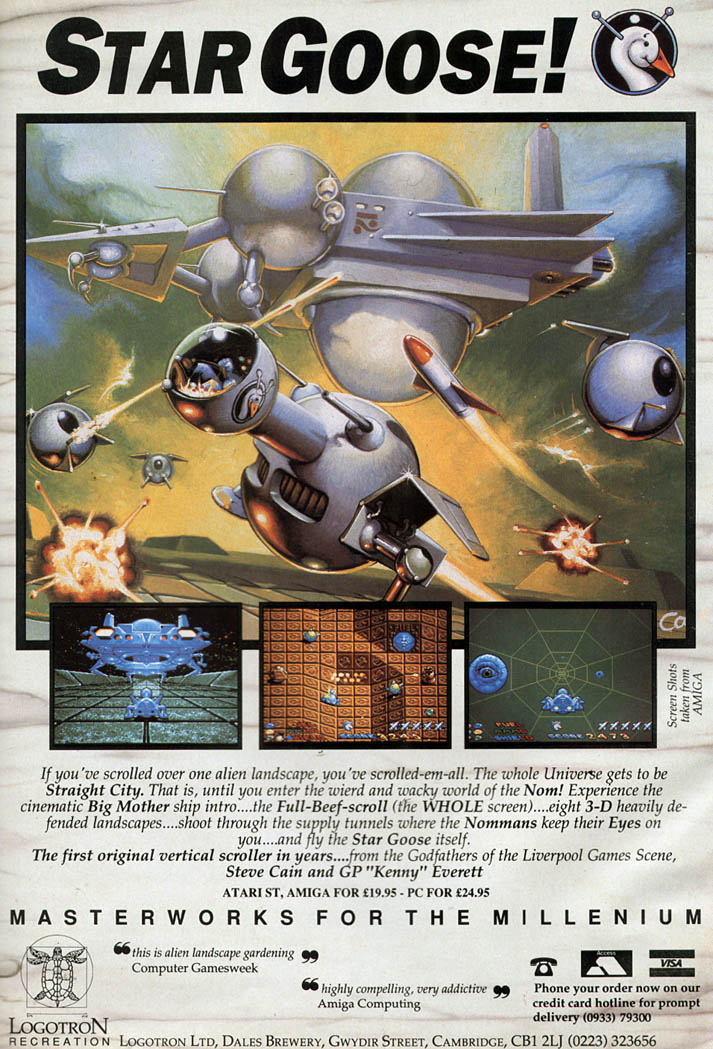 Star Goose! - Amiga Advertisement scan
