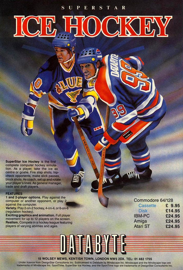 Superstar Ice Hockey - Amiga Advertisement scan