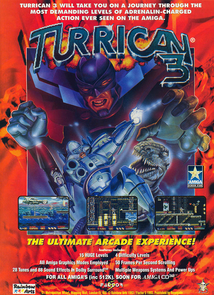 Turrican 3 - Amiga Advertisement scan