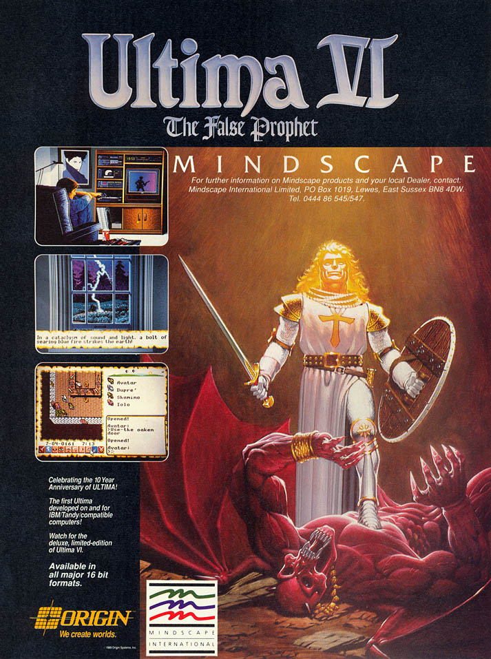 Ultima VI: The False Prophet - Amiga Advertisement scan