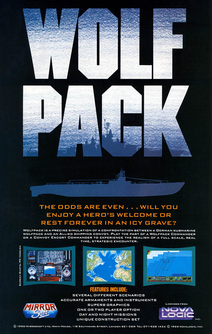 Wolfpack - Amiga Advertisement scan
