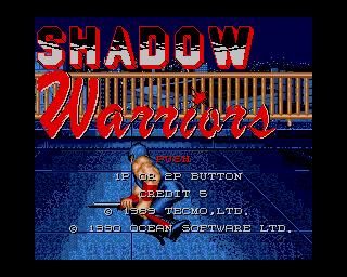 Shadow Warriors - Lemon Amiga